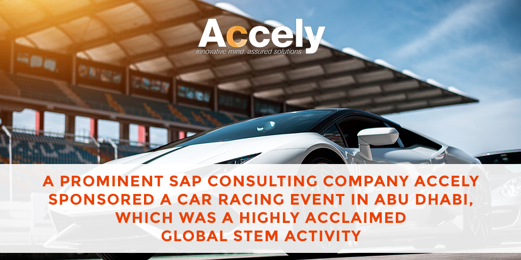 Accely Sponsors an most Competitive Car Racing Event at an reputed Racing track at Abu Dhabi