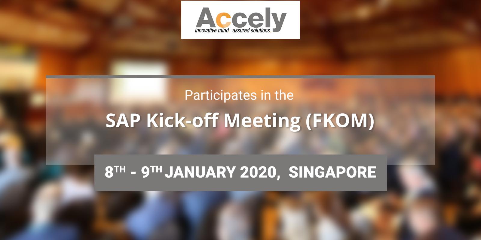 SAP Kick-off Meeting (FKOM) 2020 in Singapore