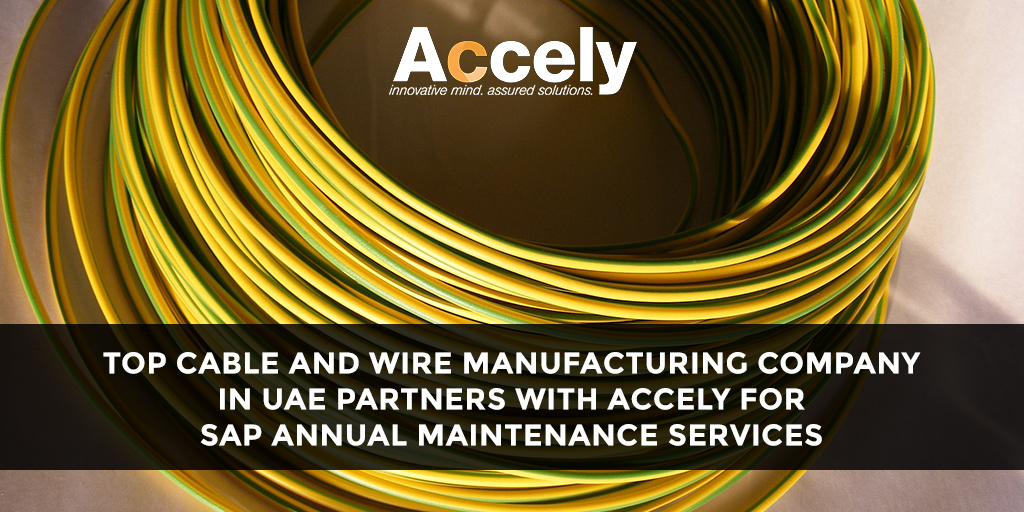 Top Cable and Wire Manufacturing Company in UAE Partners with Accely for SAP Annual Maintenance Services