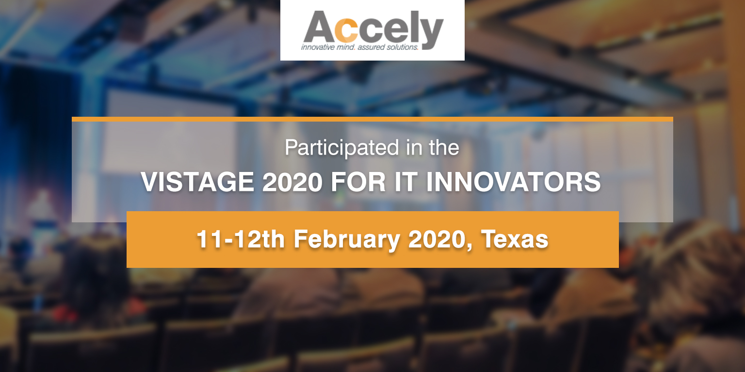 Accely Participated at Vistage 2020 for IT Innovators